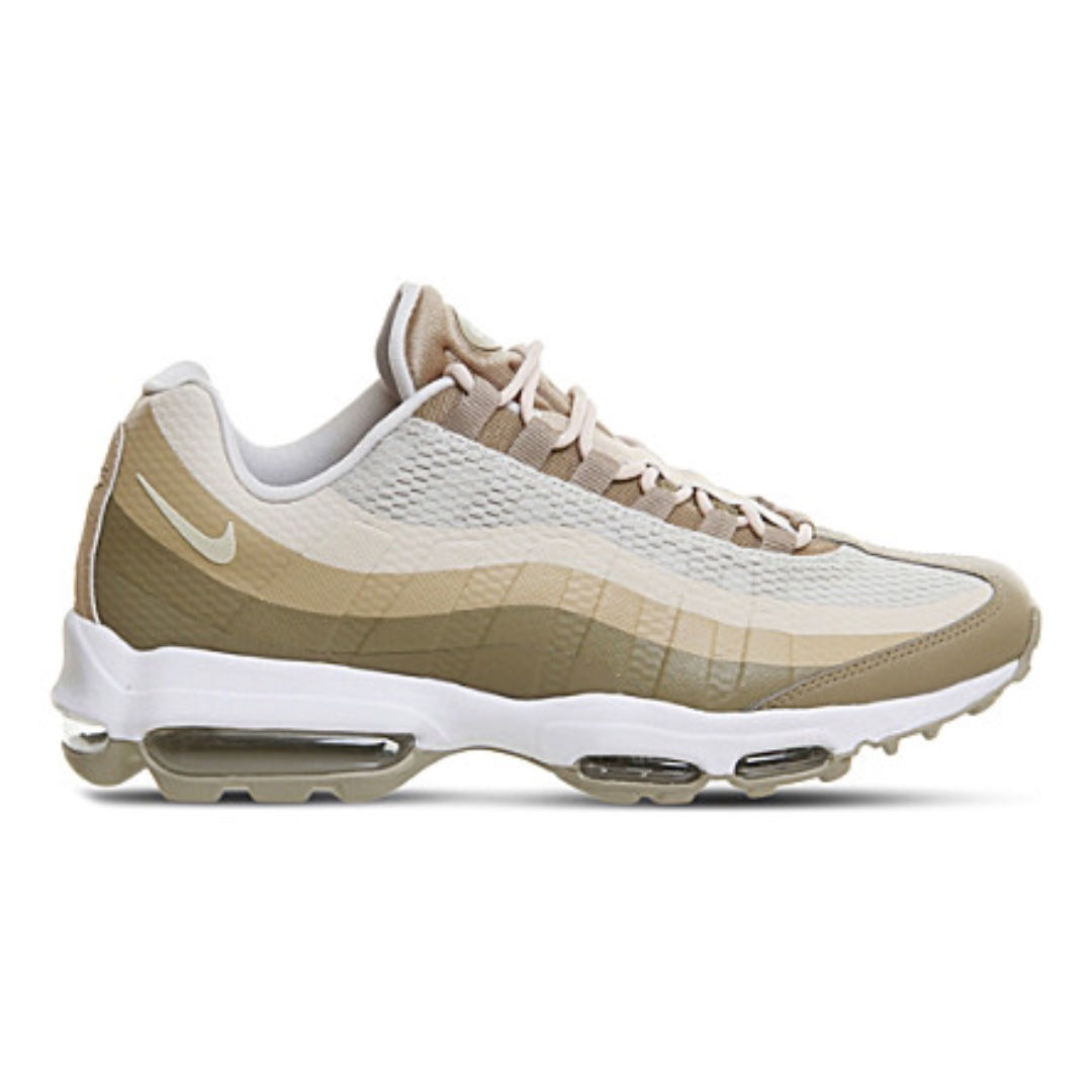 NIKE Air Max 95 Ultra leather and textile trainers 軍綠