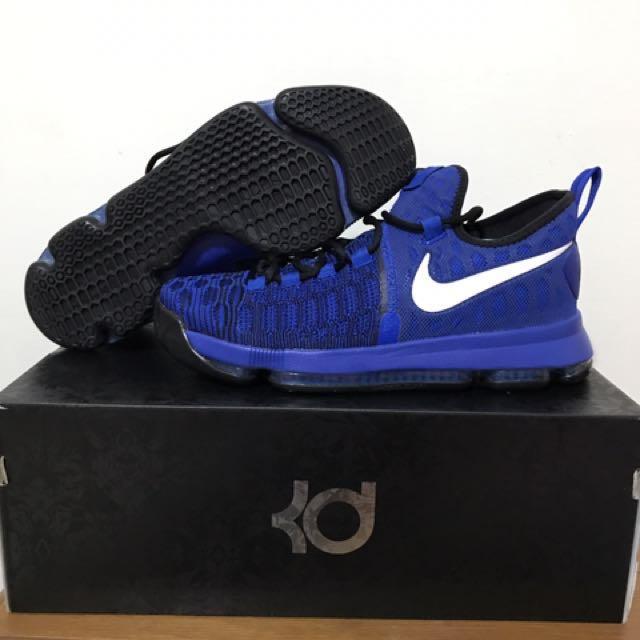 賣正版NIKE KD9代藍黑配色全氣墊籃球鞋