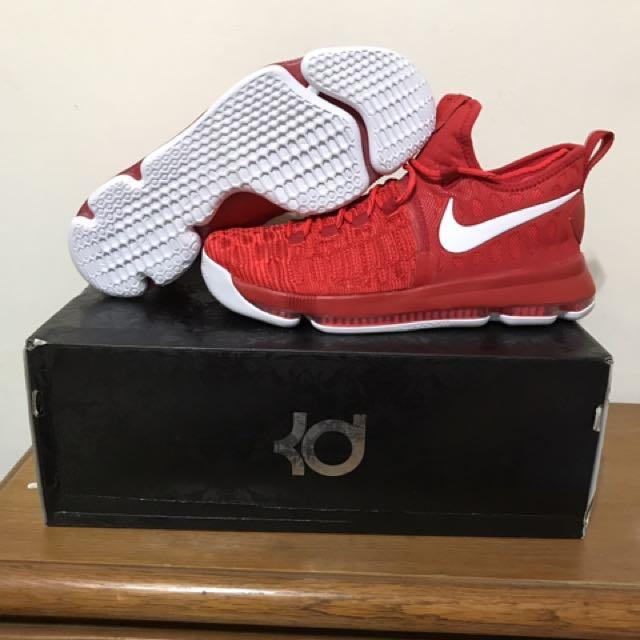 賣正版NIKE KD9代紅白配色全氣墊籃球鞋