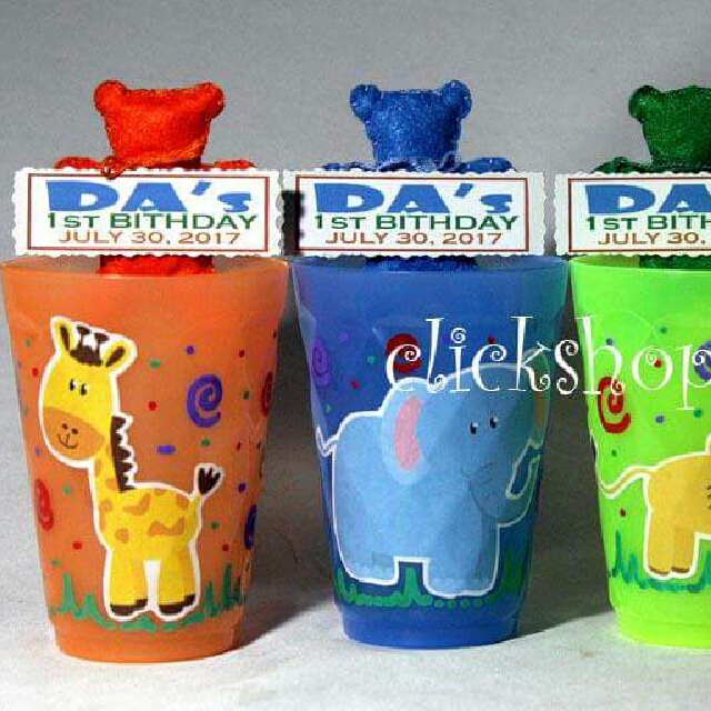 Personalized Safari Theme Party Cups Giveaways