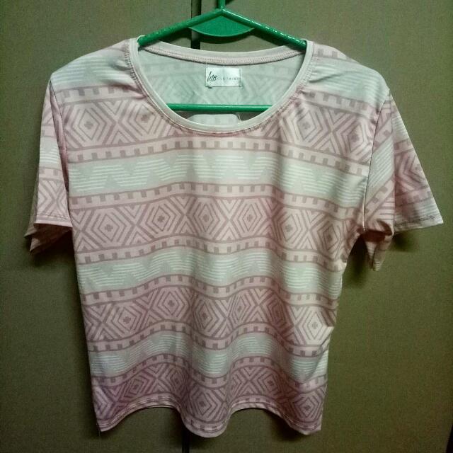 Pink Aztec Top