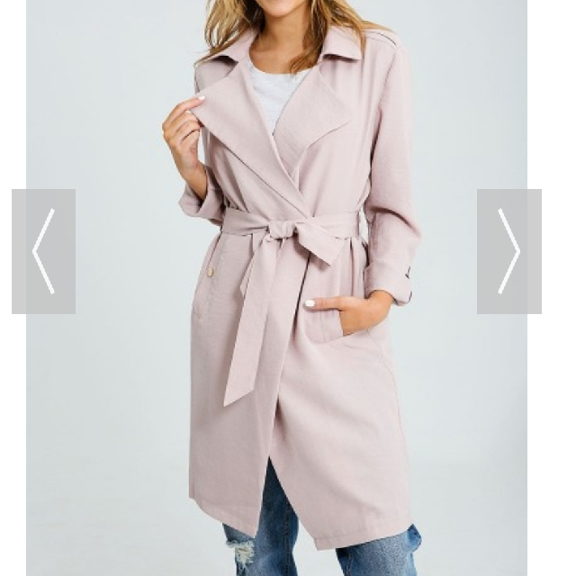 Pink Lightweight Trench coat