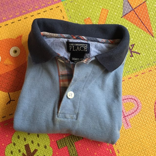 正品 PLACE 藍色polo衫