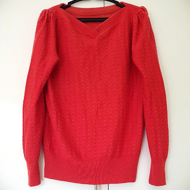 Red Sweater Pullover