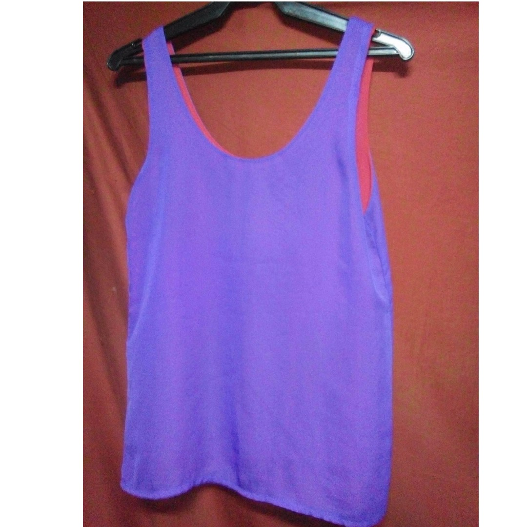 REPRICED! reversible sleeveless top (Purple and red)