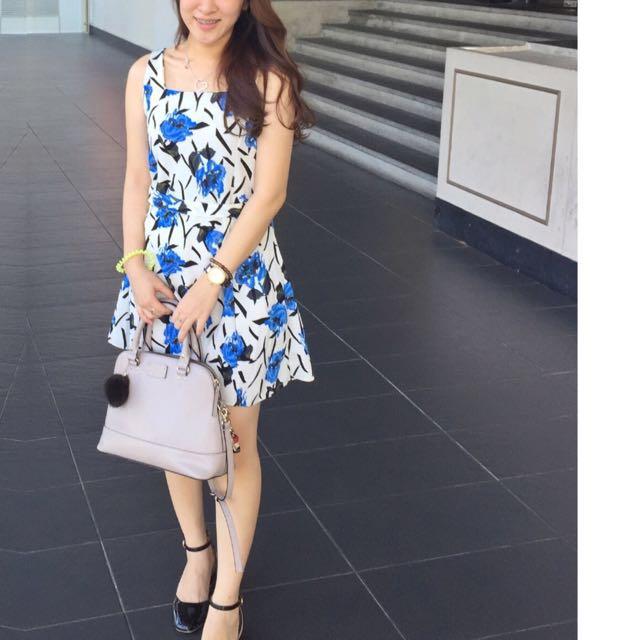 SALE!! Floral Dress With Belt