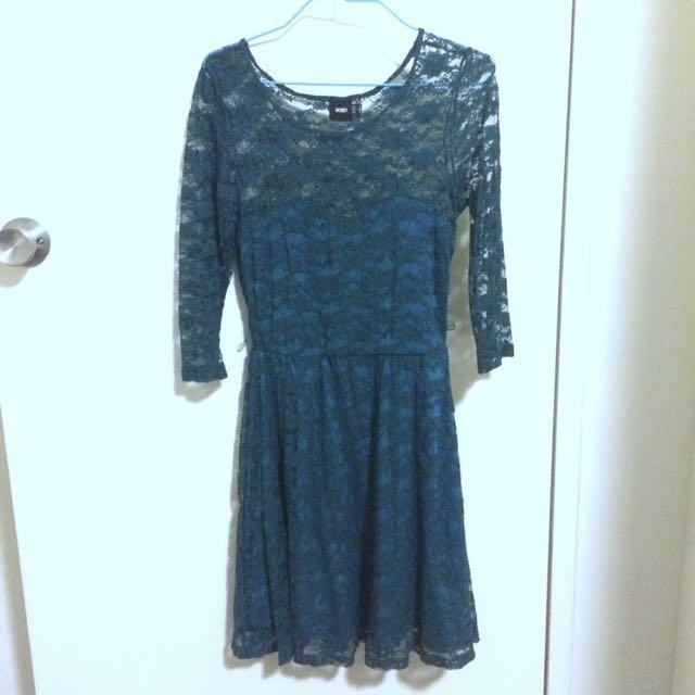 Sea Green Lace Dress