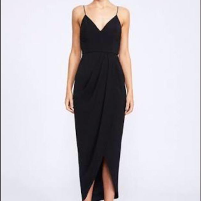 Shona Joy Maxi Cocktail Dress- Size 8