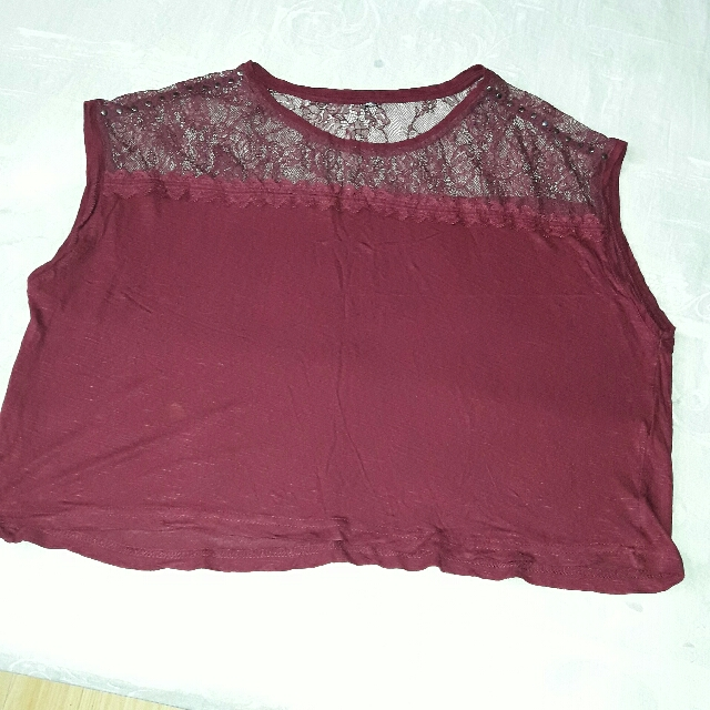 Sleeveless Red Wd Lace