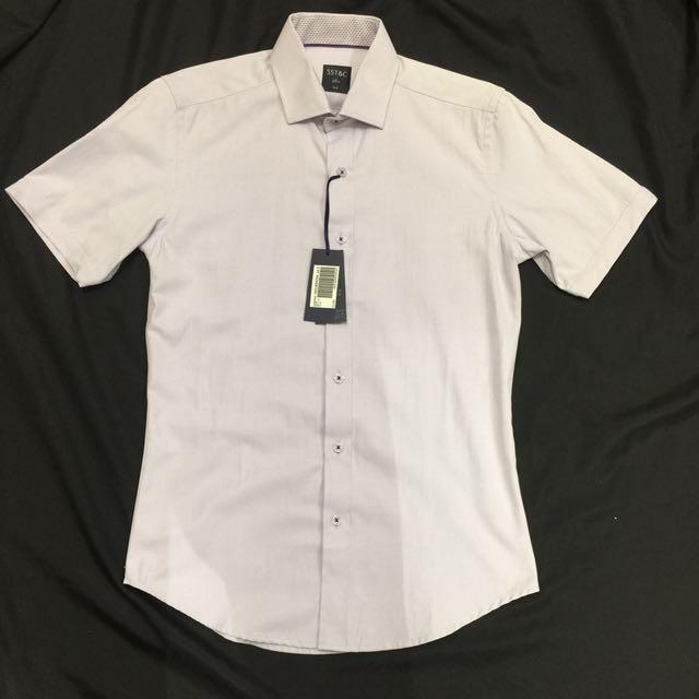 Sst&c 短袖襯衫 14.5 淡紫色
