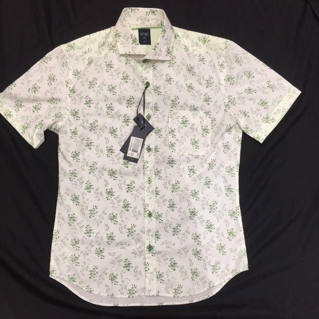Sst&c 短袖襯衫 滿版印花 14.5