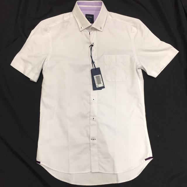 Sst&c 短袖襯衫 白色修身 14.5