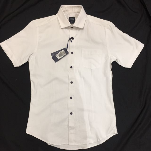 Sst&c 短袖襯衫 白色 修身 14.5