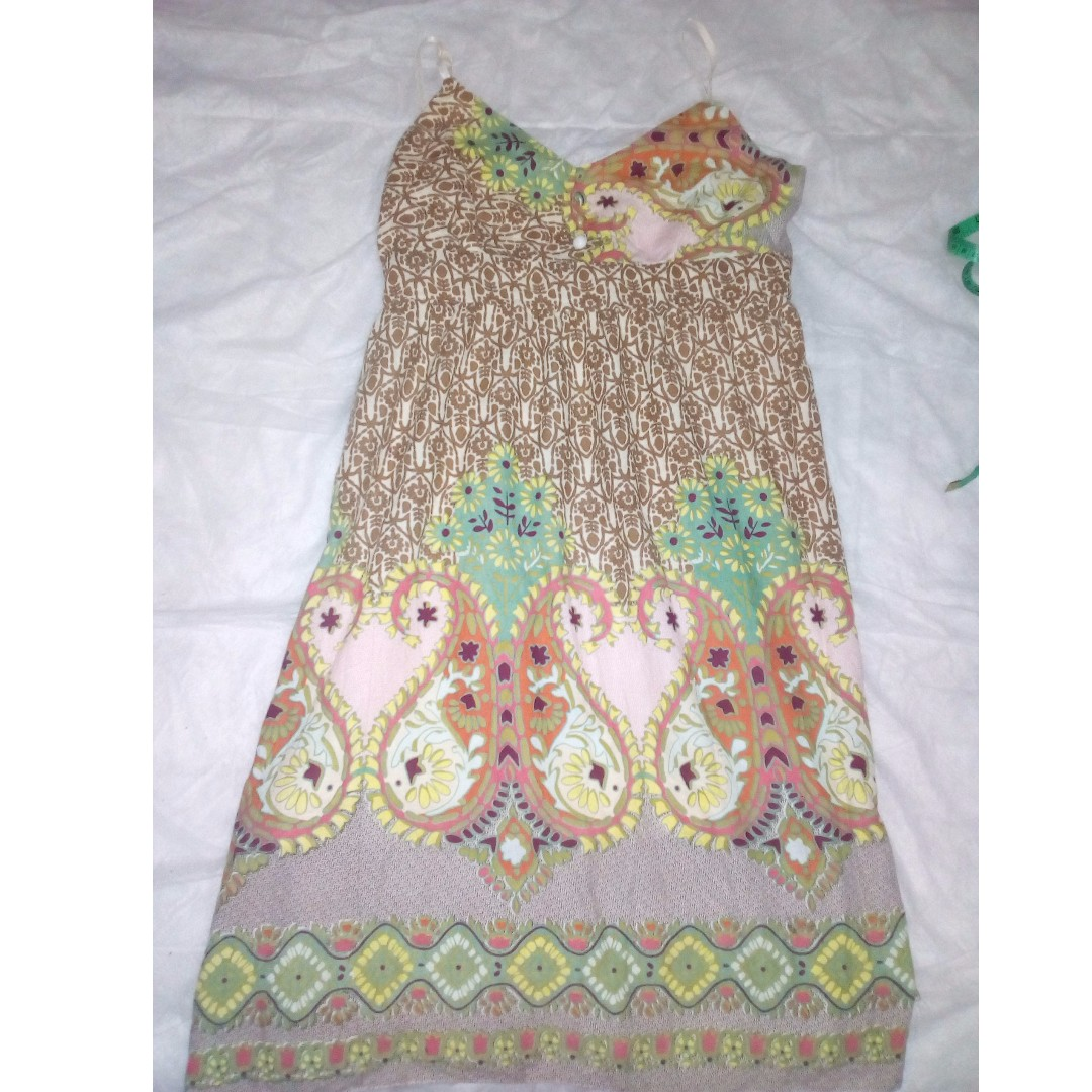 SUN DRESS BOHO CHIC RETRO PRINY