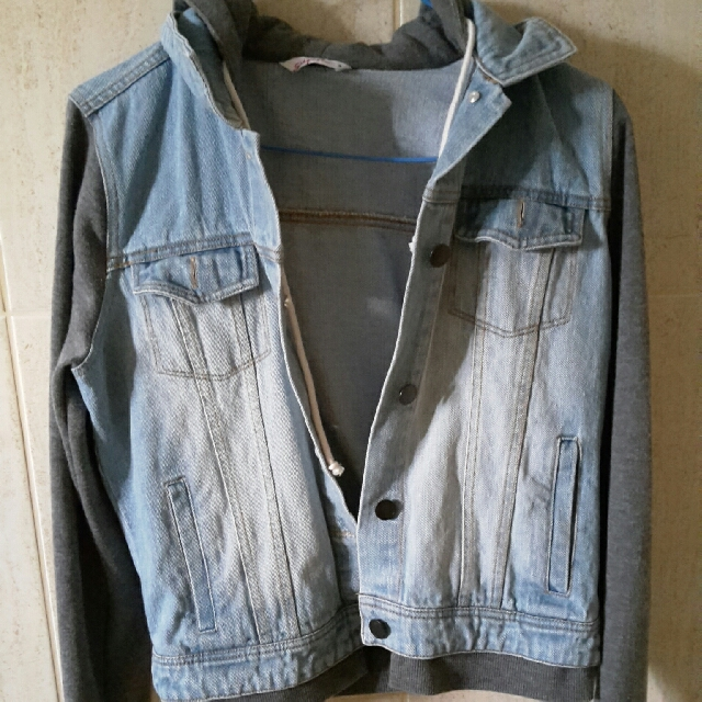 Supre Denim Jacket With Hoodie