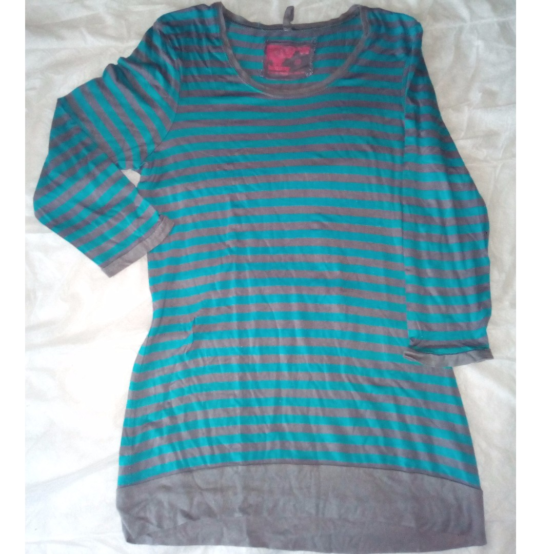 TAMMY LONG BLOUSE HORIZONTAL STRIPES