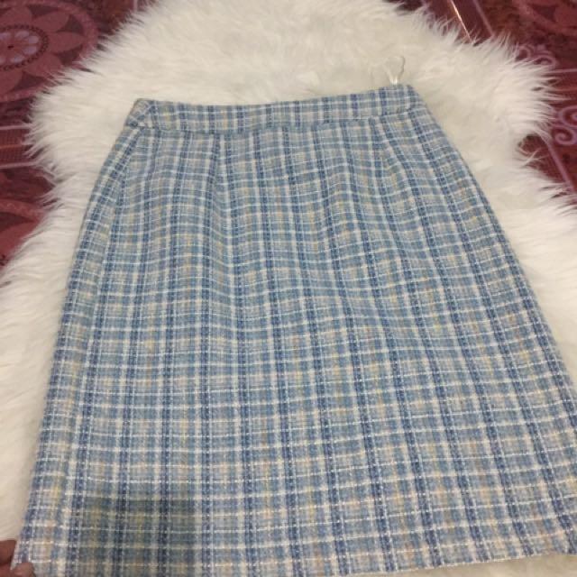 Texturized Pencil Skirt