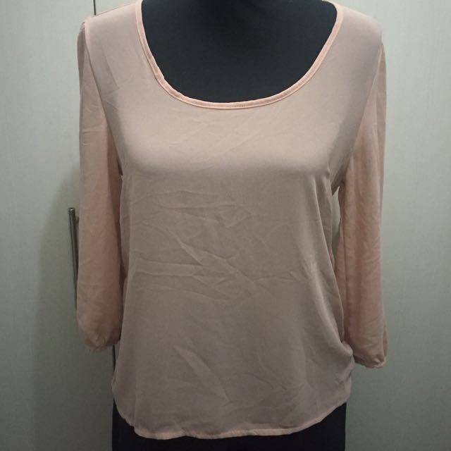 The Berries 3/4 Sleeved Chiffon Top - Pre-loved