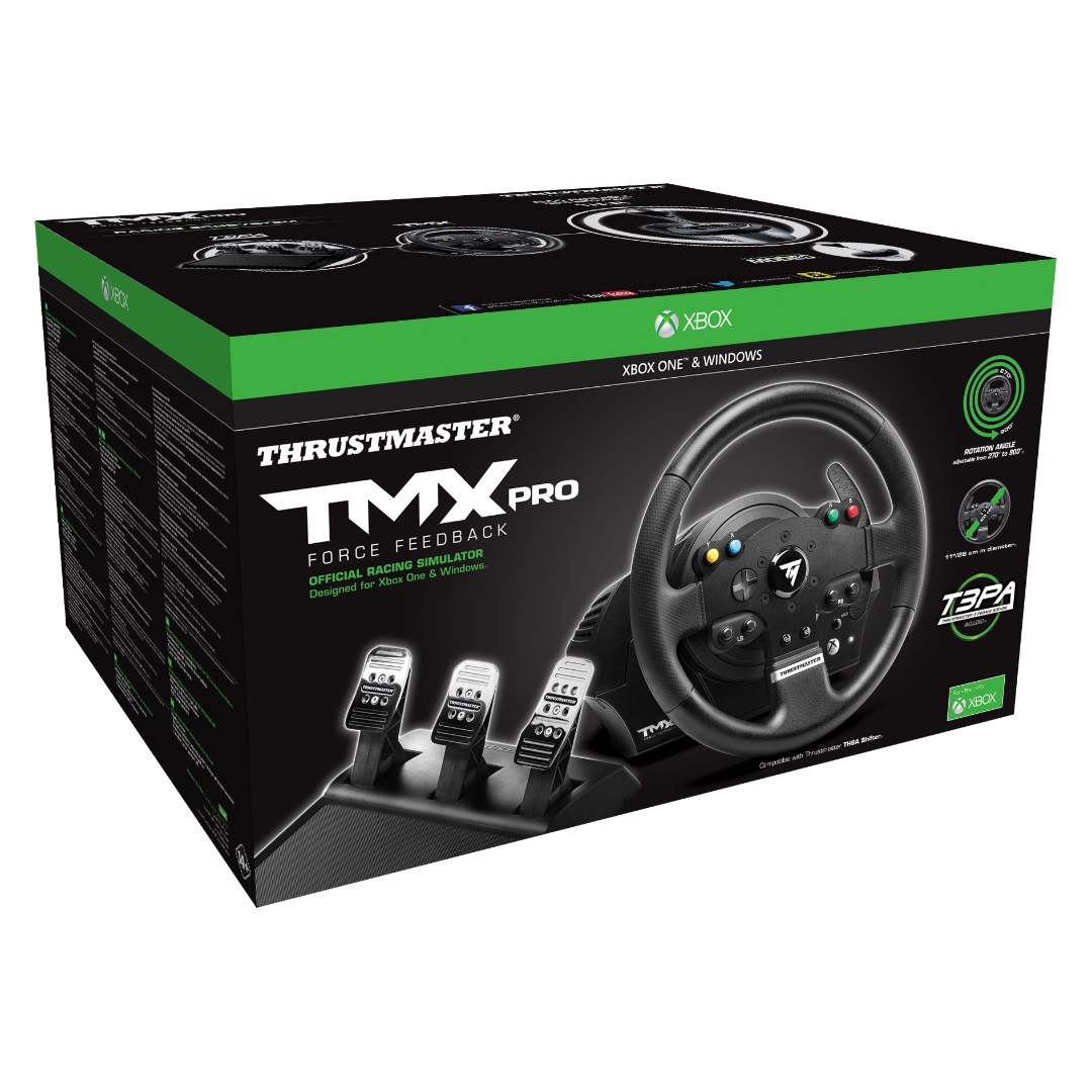 Thrustmaster Tmx Pro Force Feedback Racing Wheel Xbox One Pc Toys Ts Xw Racer New Games Video Gaming Accessories On Carousell