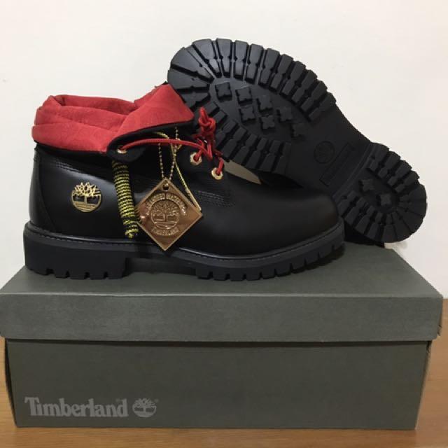 正版Timberland反折款靴黑金色春節限定版