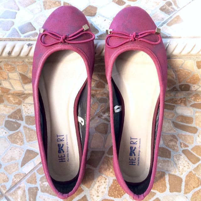TLTSN Maroon Flatshoes