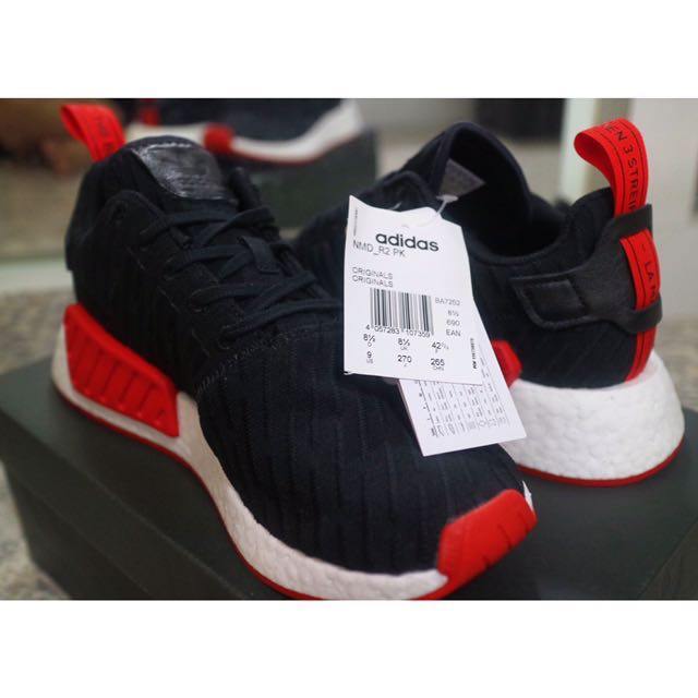 low priced 11f3a 5375f [UK8.5] Adidas NMD R2 Black Red