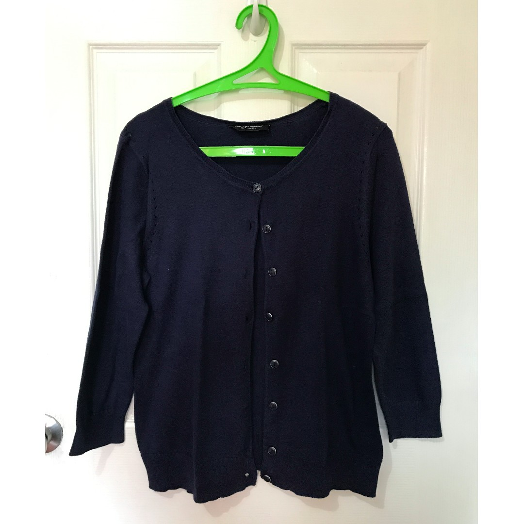 Used Dorothy Perkins Navy Blue Cardigan