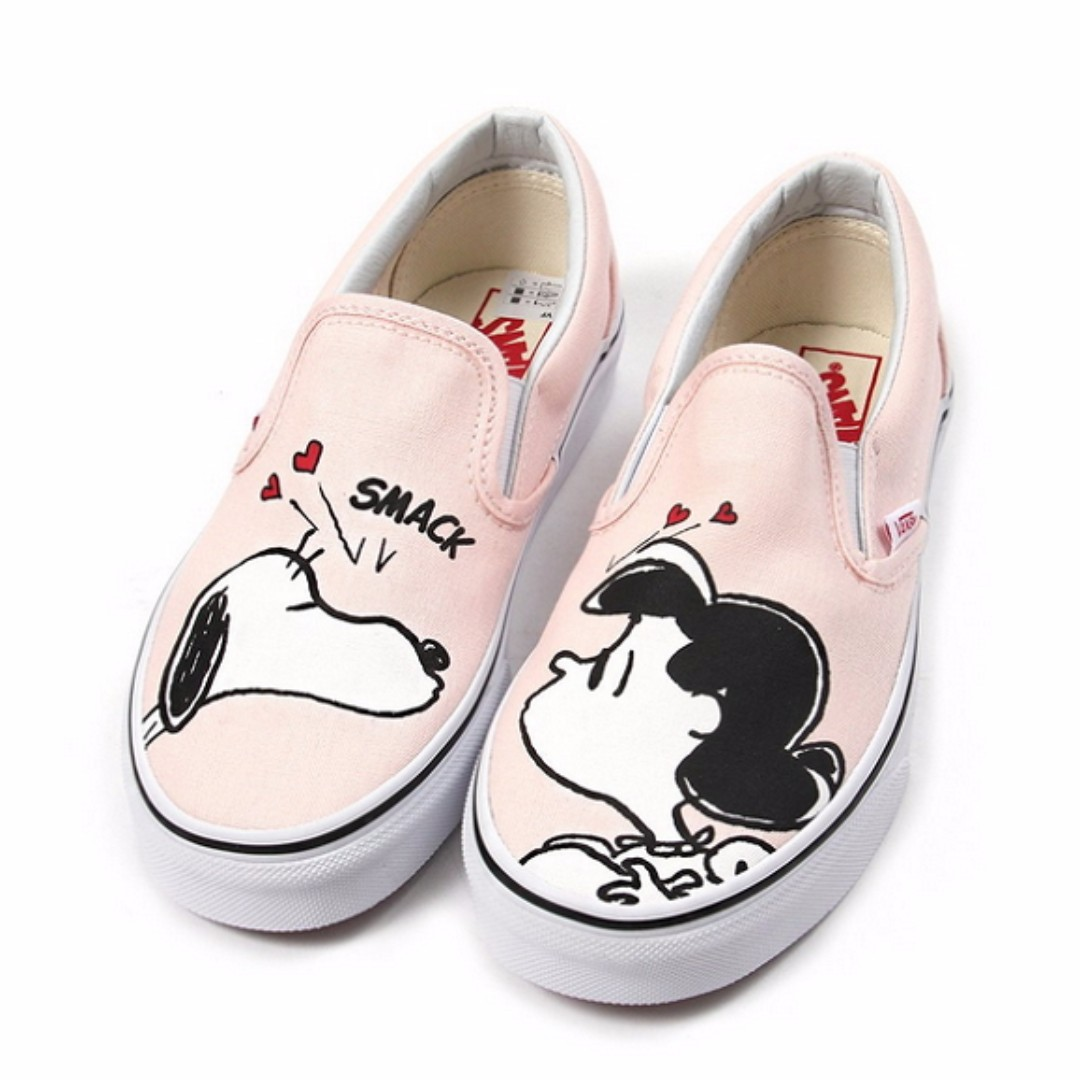 Vans X Peanut Snoopy Classic Slip On Smack Pearl Women Shoes