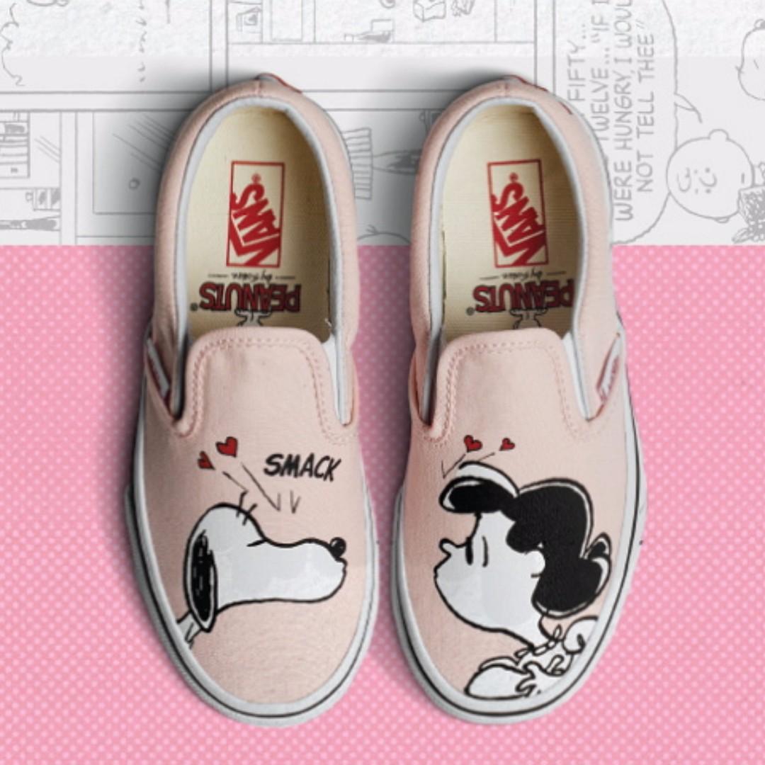 26c2f4831f5 Vans x Peanut Snoopy Classic Slip On Smack Pearl Women Shoes ...