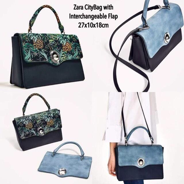Zara City Bag Interchangeable Flap Original
