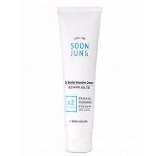 韓國 Etude House  Soon Jung 皮膚醫學系列 敏感肌用 雙重強效乳霜 60ml