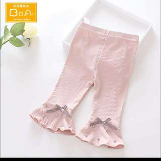 Toddler girl trendy pants (dark pink)