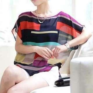 Summer Chiffon multicoloured Top