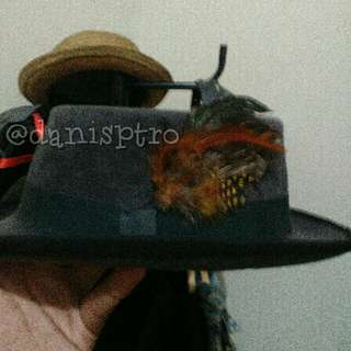 Fedora/PorkPie Hat with Removable Feather