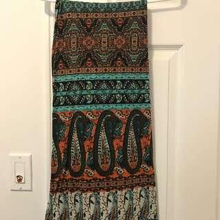 Earth Tones Printed Skirt