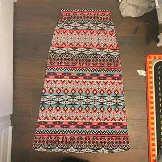 Bright Printed Skirt