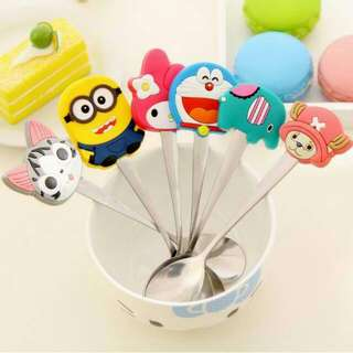 Cartoon Character Spoon Stainless Steel