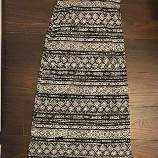 Black/white Printed Skirt