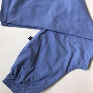 High waisted vintage blue pants