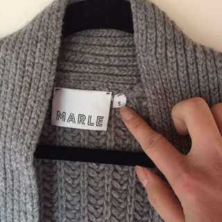 Marle Grey Wool Chunky Cardigan