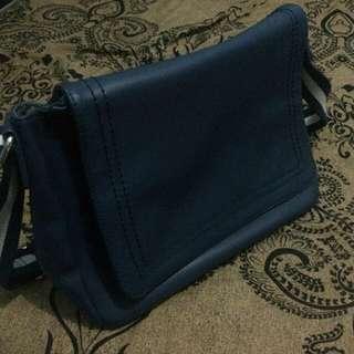 Zalora Blue Messenger Bag
