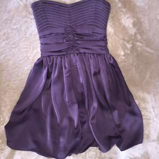 Strapless purple Costa Blanca dress