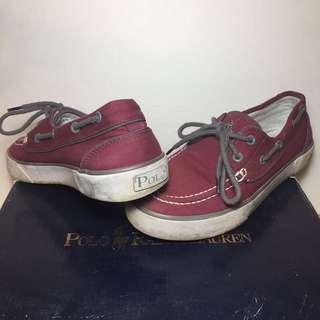 Polo Ralph Lauren Boat Shoes - Size 6 - Wine colour