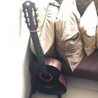 Acoustic Guitar with Portable Stand