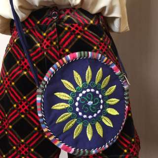 Handmade Floral Sling Crossbody Party Bag