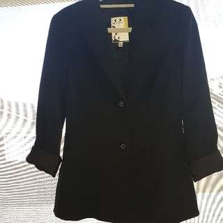 Biz Corporate Black Blazer Size 8
