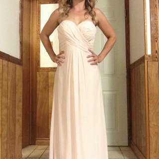 Strapless bridesmaid / Prom Dress