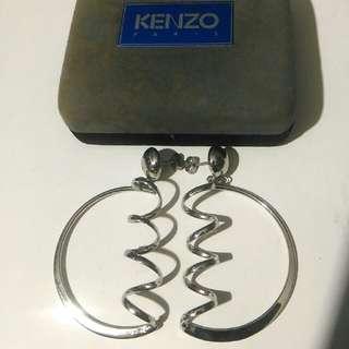 Kenzo Paris 199x 中古 大耳環 Large Earrings 1對 附盒