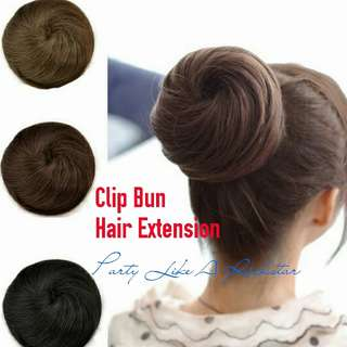 Clip Bun Extension, In-stock in Black & Dark Brown Instock