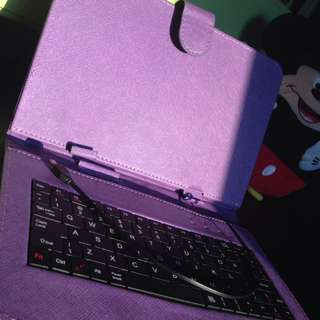 Tablet case adjustable with keyboard